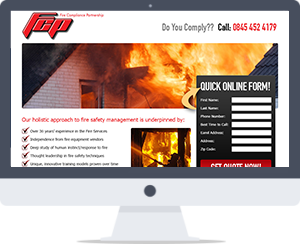 Fire Safety Landing Page